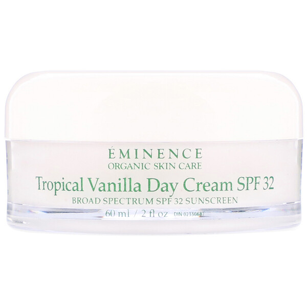 Eminence Organics, Tropical Vanilla Day Cream, SPF 32, 2 fl oz (60 ml) (Discontinued Item)