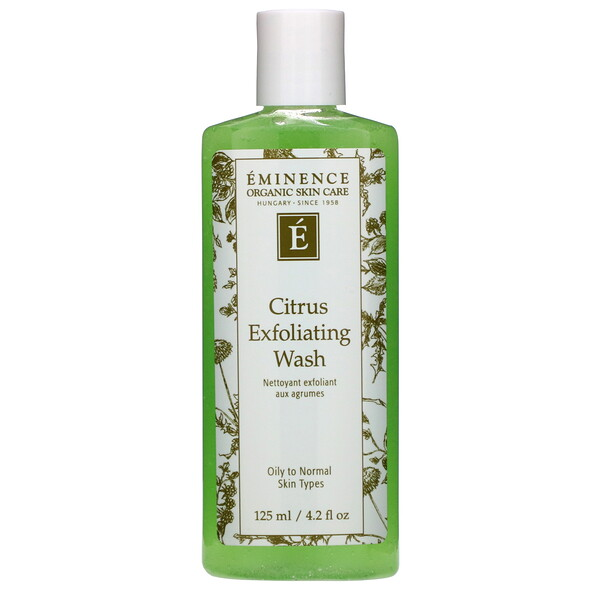Eminence Organics, Citrus Exfoliating Wash, 4.2 fl oz (125 ml)