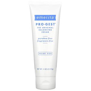 Emerita, Pro-Gest, крем, регулирующий водно-солевой баланс кожи, без запаха, 112 г (4 унции)