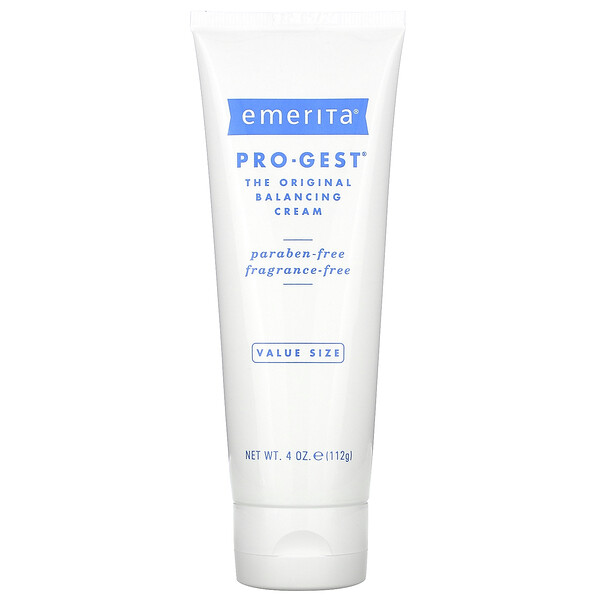 Emerita, Pro-Gest, Balancing Cream, Fragrance-Free, 4 oz (112 g)