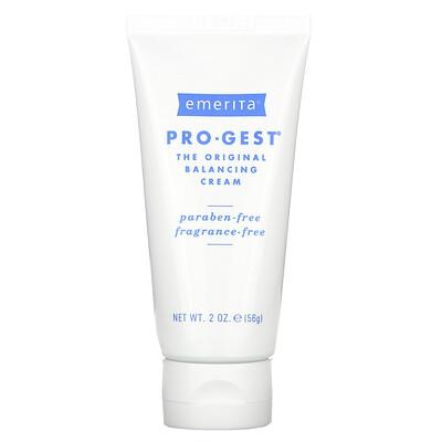 Emerita Pro-Gest, крем с прогестероном, без запаха, 2 унции (56 г)