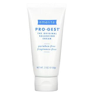Emerita, Pro-Gest, Balancing Cream, Fragrance Free, 2 oz (56 g)