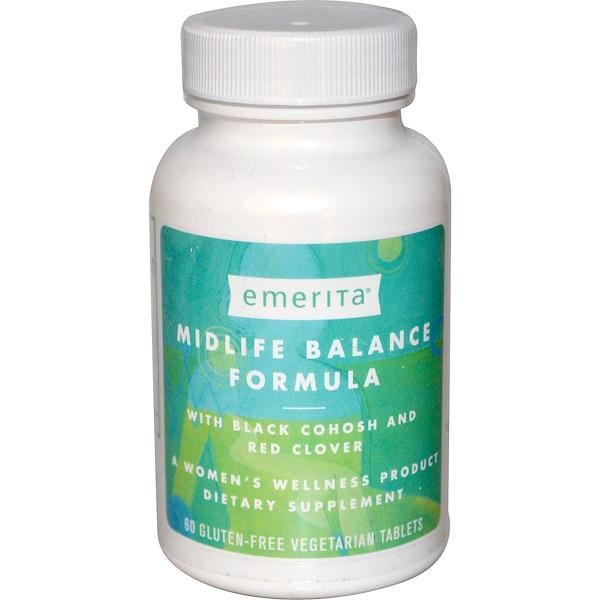 Emerita, Midlife Balance Formula, 60 Veggie Tabs (Discontinued Item)