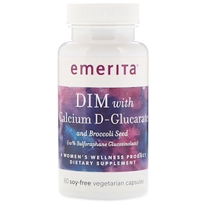 Эмерита, DIM With Calcium D-Glucarate and Broccoli Seed, 60 Soy-Free Vegetarian Capsules отзывы