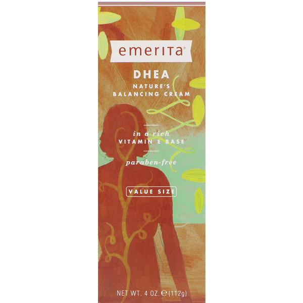 Emerita, DHEA, Nature's Balancing Cream, 4 oz (112 g)