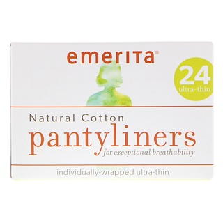 Emerita, Прокладки из натурального хлопка, ультратонкие, 24 прокладки