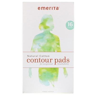 Купить Emerita Контурные прокладки из натурального хлопка, 16 шт.