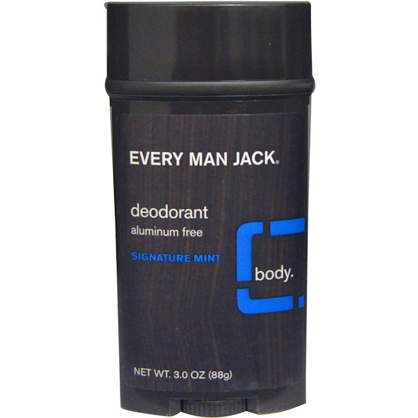 Every Man Jack, Deodorant, Signature Mint, 3.0 oz (88 g)