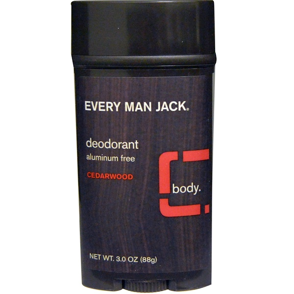 Every Man Jack, Deodorant, Cedarwood, 3.0 oz (88 g) (Discontinued Item)