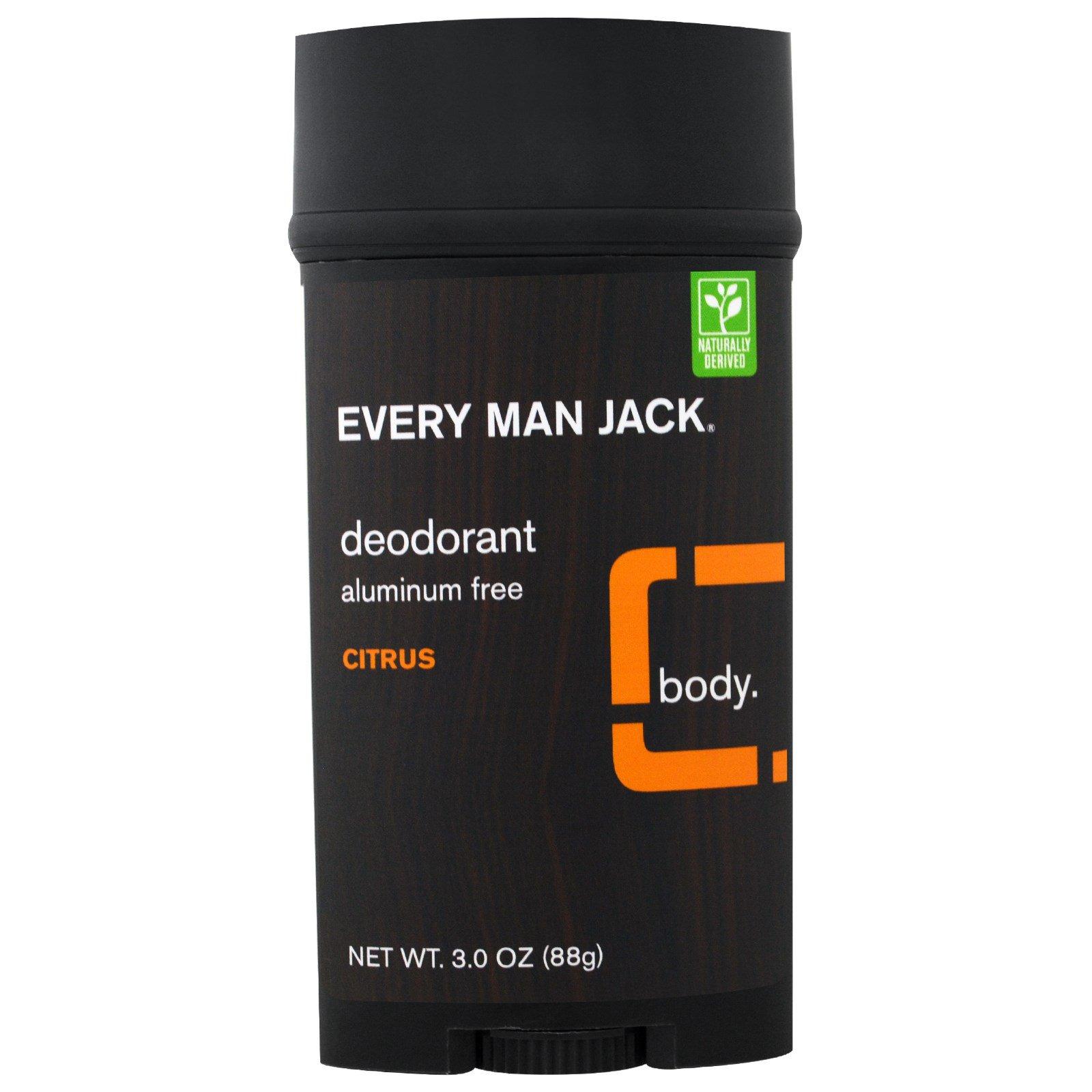 Every Man Jack, Дезодорант, Цитрус, 3,0 унции (88 г)