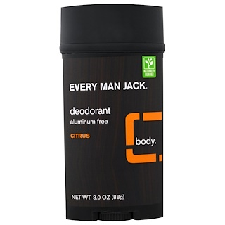 Every Man Jack, Deodorant, Citrus, 3.0 oz (88 g)
