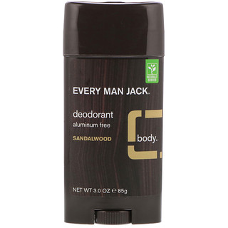 Every Man Jack, Deodorant, Sandalwood, 3.0 oz (85 g)