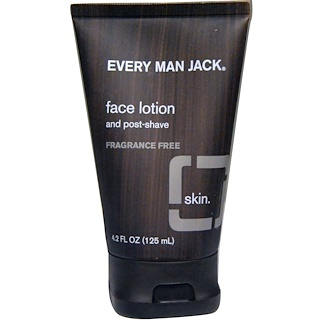 Every Man Jack, Face Lotion, Fragrance Free, 4.2 fl oz (125 ml)