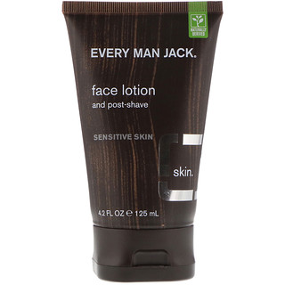 Every Man Jack, Face Lotion, Sensitive Skin, Fragrance Free, 4.2 fl oz (125 ml)