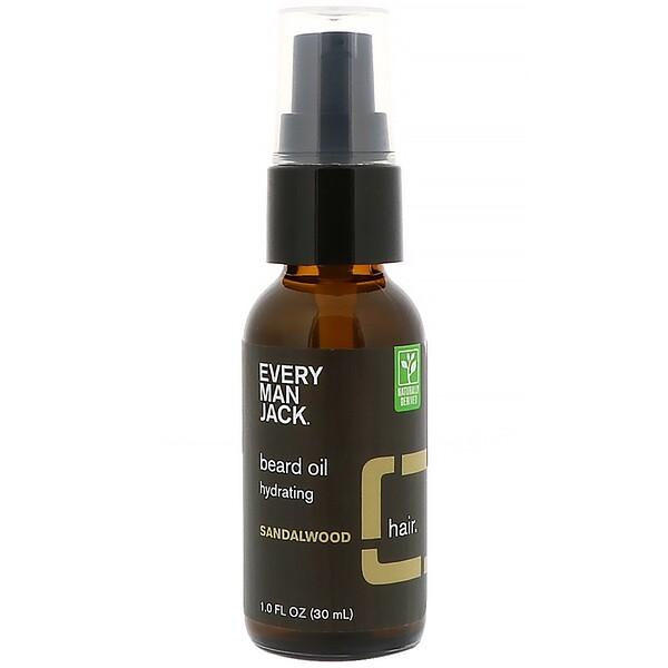 Every Man Jack, Beard Oil, Hydrating, Sandalwood, 1 fl oz (30 ml) (Discontinued Item)