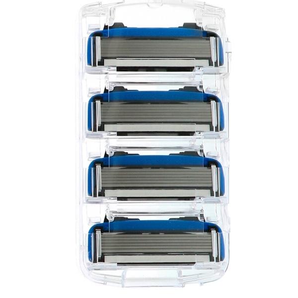 Every Man Jack, Razor Cartridges, Six Blades, Sensitive, 4 Cartridges (Discontinued Item)
