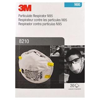 3M, Particulate Respirator N95, 8210, 20 Respirator