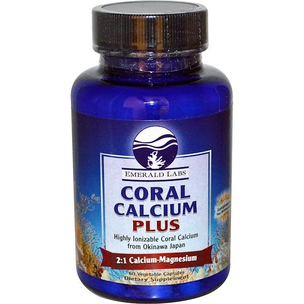 Emerald Laboratories, Coral Calcium Plus, 60 Veggie Caps (Discontinued Item)
