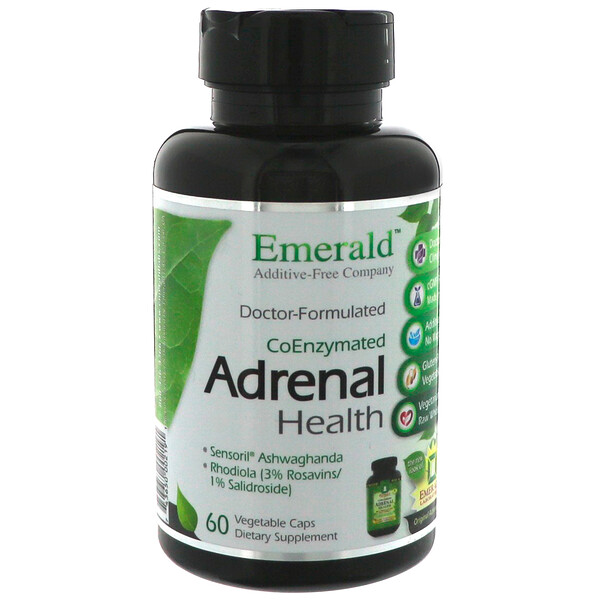 Emerald Laboratories, CoEnzymated Adrenal Health, 60 Vegetable Caps (Discontinued Item)