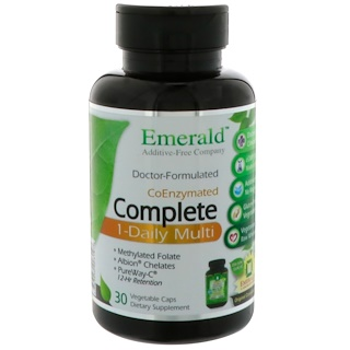 Emerald Laboratories, CoEnzymated Complete, 1-Daily Multi, 30 Vegetable Caps
