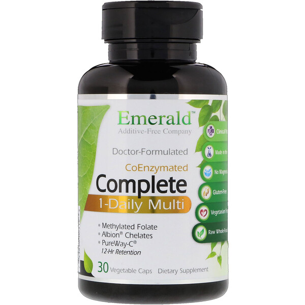 Emerald Laboratories, CoEnzymated Complete 1-Daily Multi, 30 Vegetable Caps