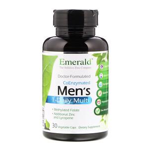 Эмеральд Лабораторис, CoEnzymated Men's 1-Daily Multi, 30 Vegetable Caps отзывы покупателей