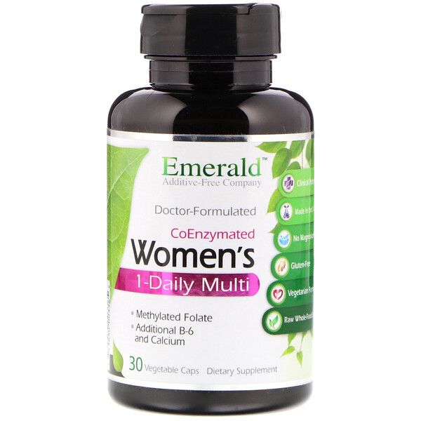 Emerald Laboratories, CoEnzymated Women's 1-Daily Multi, 30 растительных капсул