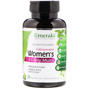 Эмеральд Лабораторис, CoEnzymated Women's 1-Daily Multi, 30 Vegetable Caps отзывы покупателей