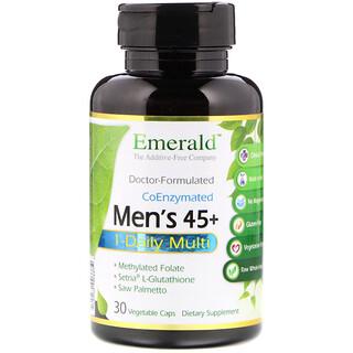 Emerald Laboratories, Men's 45+ 1-Daily Multi Vit-A-Min, 30 Veggie Caps