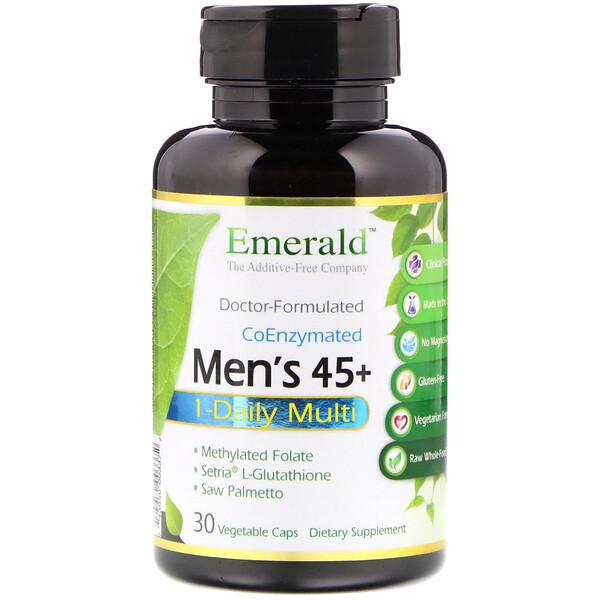 45+ 男性专用每日一粒复合营养素食胶囊,30 粒装