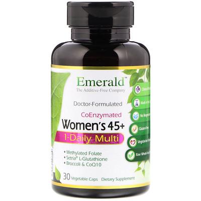 Мультивитаминный комплекс для женщин от 45 лет, для приема 1 раз в день, коферментная формула, 30 растительных капсул