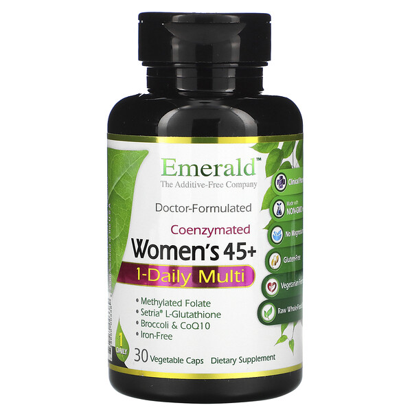 CoEnzymated Women's 45+, 1-Daily Multi, 30 Vegetable Caps