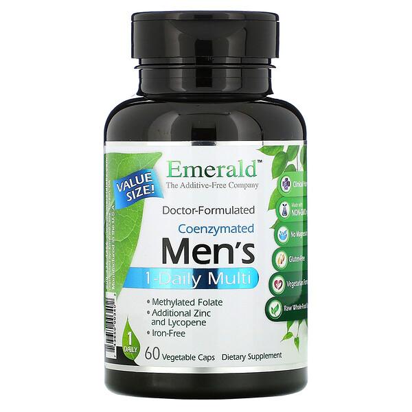 коферментный мультивитаминный комплекс для мужчин, прием 1раз в день, 60вегетарианских капсул