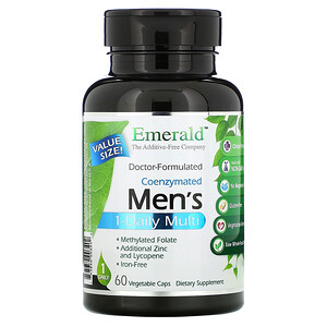 Emerald Laboratories, Coenzymated Men's 1-Daily Multi, 60 Vegetable Caps