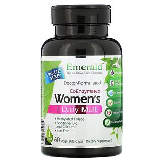 Emerald Laboratories, CoEnzymated Women's 1-Daily Multi, 60 Vegetable Caps
