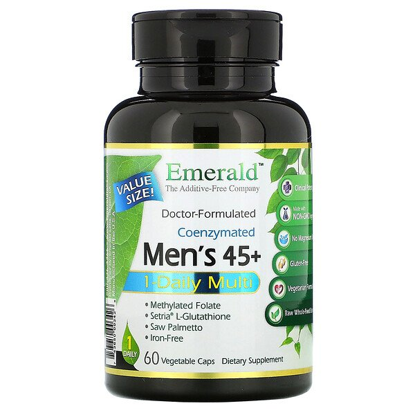 Coenzymated Men's 45+ 1-Daily Multi, 60 Vegetable Caps
