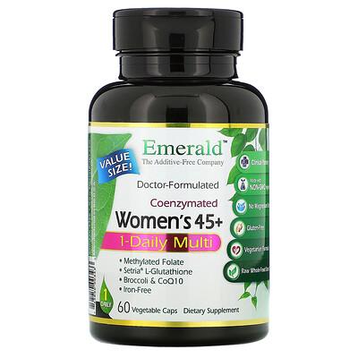 Купить Emerald Laboratories Coenzymated Women's 45+ 1-Daily Multi, 60 Vegetable Caps