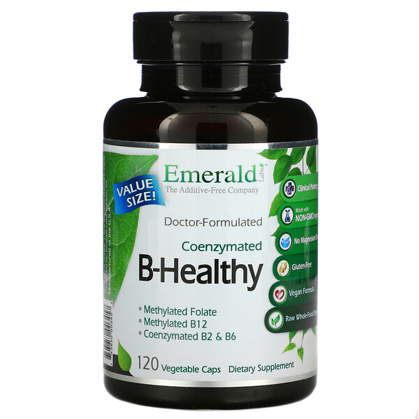 Coenzymated B-Healthy,120 粒素食膠囊
