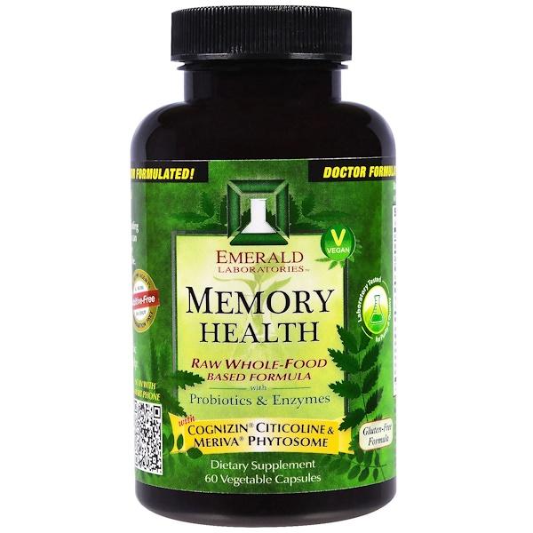 Emerald Laboratories, Memory Health, 60 Veggie Capsules (Discontinued Item)