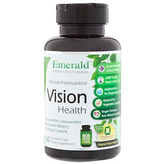 Emerald Laboratories, Vision Health, 60 Vegetable Caps