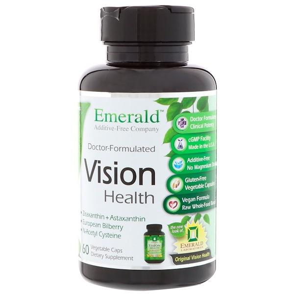 Emerald Laboratories, Vision Health, 60 Vegetable Caps (Discontinued Item)