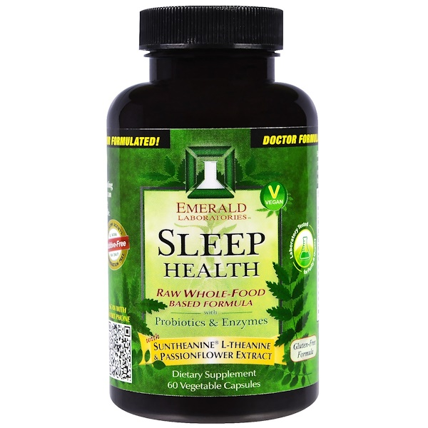 Emerald Laboratories, Sleep Health, 60 Veggie Capsules (Discontinued Item)