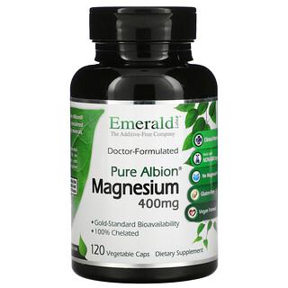 Emerald Laboratories, Pure Albion Magnesium, 400 mg, 120 Vegetable Caps