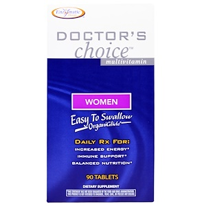 Enzymatic Therapy, Мультивитамины «Выбор врачей», для женщин, 90 таблеток