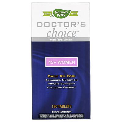 Купить Enzymatic Therapy Мультивитамины «Выбор врачей», для женщин от 45 лет, 180 таблеток