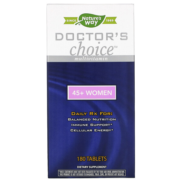 Enzymatic Therapy, Doctor's Choice Multivitamins, 45+ Women, 180 Tablets