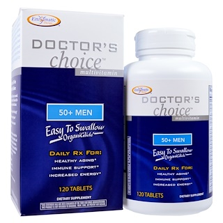 Enzymatic Therapy, Doctor's Choice Multivitamins, 50+ Men, 120 Tablets