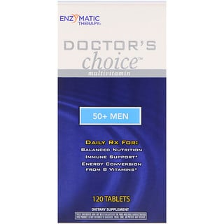 Enzymatic Therapy, Doctor's Choice Multivitamin, 50+ Men, 120 Tablets