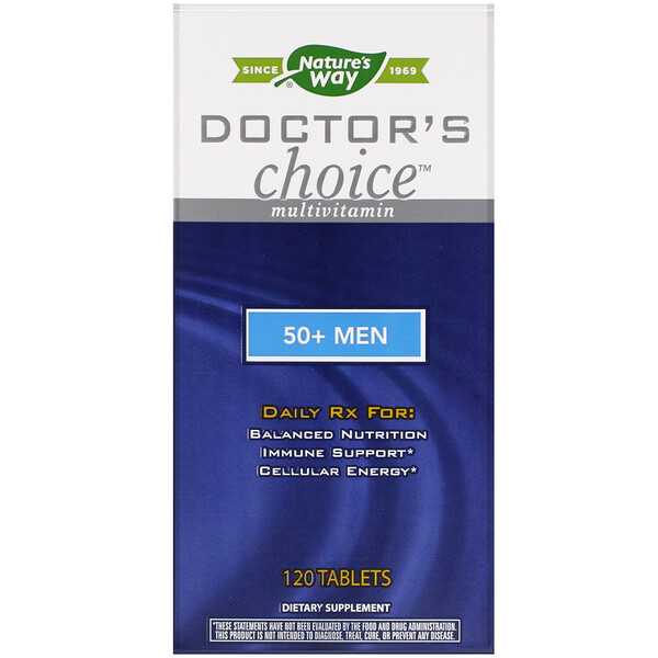Nature's Way, Doctor's Choice Multivitamin, 50+ Men, 120 Tablets