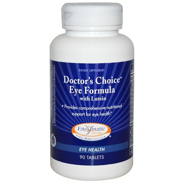 Enzymatic Therapy, Doctor's Choice Eye Formula, with Lutein, 90 Tablets (Discontinued Item)